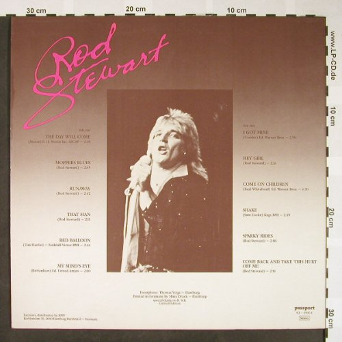 Stewart,Rod: A Part Of My Life, Passport(92 1706-1), I, 1984 - LP - H1651 - 7,50 Euro