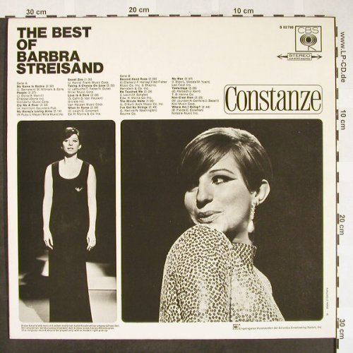 Streisand,Barbra: The Best of, CBS/Constanze(S 62 788), D,  - LP - H1822 - 7,50 Euro