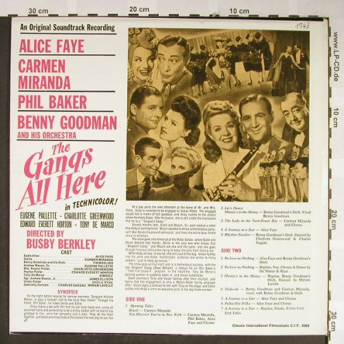 Gang's All Here  , the: Alice Faye...Benny Goodman(1943), Classic Int.Filmmusikal(C.I.F. 3003), US,  - LP - H2105 - 7,50 Euro