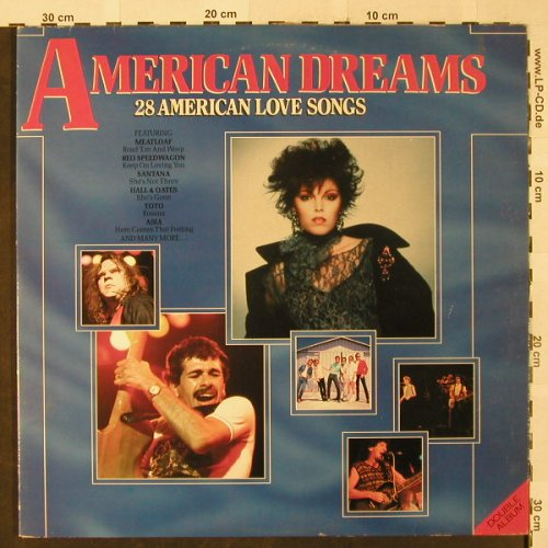 V.A.American Dreams: 28 Americ.Love Songs, Kansas..Asia, Solitaire Collection(SLTD 12), UK, Foc, 1985 - 2LP - H2582 - 5,00 Euro