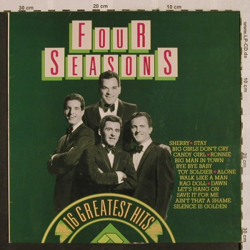 Four Seasons: 16 Greatest Hits, woc, Flashback(34041), D,  - LP - H2717 - 4,00 Euro