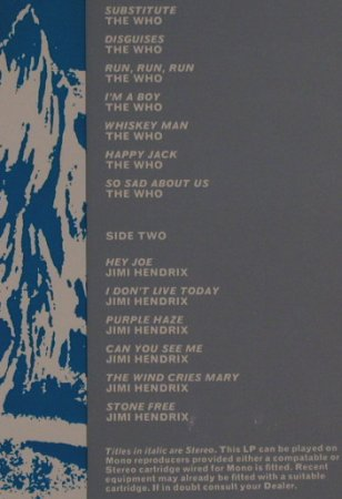 V.A.Backtrack 3: WHO / Hendrix, Track Records(2407 003), UK, Ri,  - LP - H2777 - 7,50 Euro