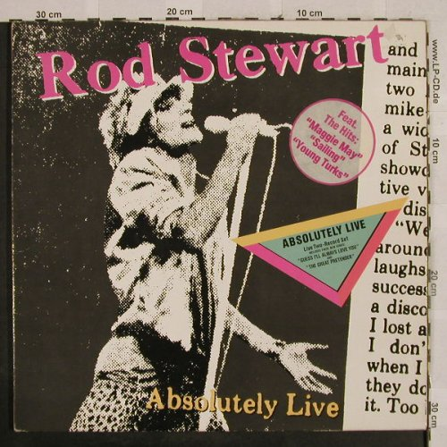 Stewart,Rod: Absolutly Live,Foc, WB(92.3743-1), D, 1982 - 2LP - H2852 - 6,00 Euro