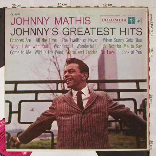 Mathis,Johnny: Johnny's Greatest Hits, playable, Columbia(CL 1133), US,vg+/vg+,  - LP - H2907 - 4,00 Euro