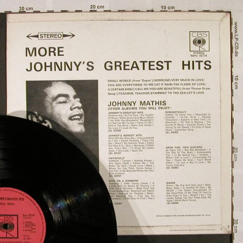Mathis,Johnny: More Johnny's Greatest Hits, CBS(SBPG 62774), UK,vg+/m-, 1966 - LP - H2908 - 5,00 Euro