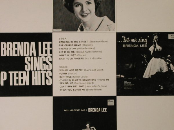 Lee,Brenda: sings Top Teen Hits, vg-/m-, Brunswick(267 118), D, 1965 - LP - H2942 - 9,00 Euro