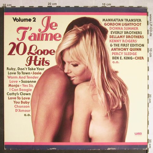 V.A.Jet'Aime: 20 Love Hits, Vol.2, WEA(WEA 58 012), D, 1977 - LP - H300 - 4,00 Euro