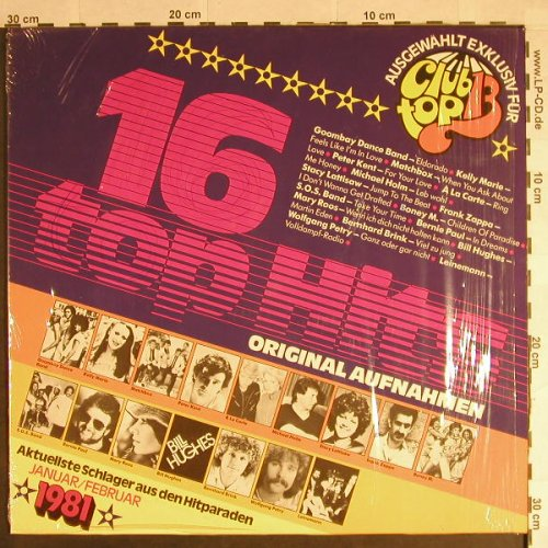 V.A.Club Top 13: 1981 - Jan/Feb, club top(31 950 9), D, 1980 - LP - H307 - 4,00 Euro