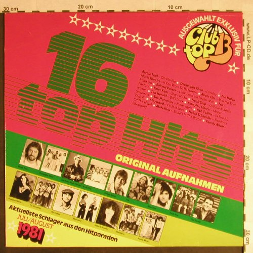 V.A.Club Top 13: 1981 - Juli/August, club top(31 953 3), , 1981 - LP - H310 - 4,00 Euro