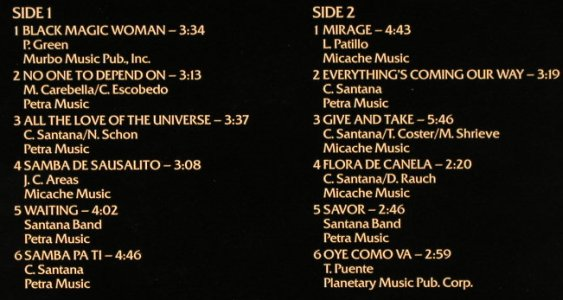 Santana: Top Groups Of Pop Music, Memory(296 988-245), NL, Ri'75, 1981 - LP - H3144 - 5,00 Euro