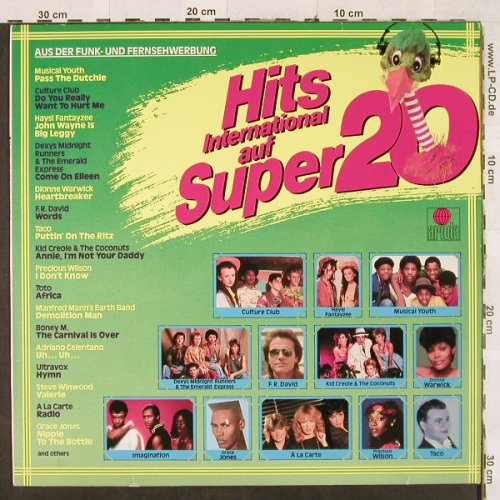 V.A.Hits International Super 20: Musical Youth...Grace Jones, Ariola(205 333-502), D, 1983 - LP - H3158 - 4,00 Euro