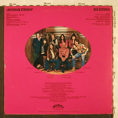 Jefferson Starship: Red Octopus, Grunt(BFL1-0999), US, co, 1975 - LP - H3387 - 6,50 Euro