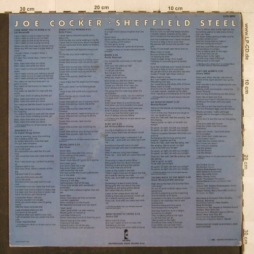 Cocker,Joe: Sheffield Steel, Island(ILPS 19700), I, 1982 - LP - H3402 - 5,00 Euro