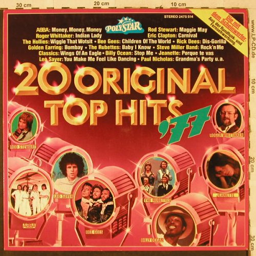 V.A.20 Original Top Hits'77: Abba,Rubettes..Golden Earring, Polystar(2475 514), D,  - LP - H3678 - 4,00 Euro