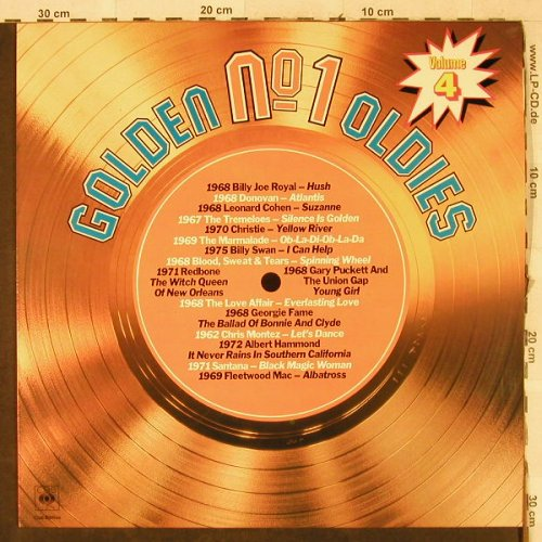 V.A.Golden No.1 Oldies: Vol.4-Tremelos...Santana, CBS, Club Ed.(32 994 6), NL, 1981 - LP - H3733 - 4,00 Euro