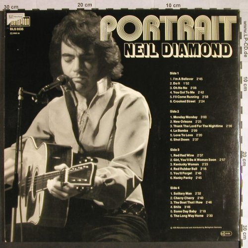 Diamond,Neil: Portrait, Foc, Bellaphon(BLS 5535), D, Ri, 1976 - 2LP - H380 - 6,50 Euro