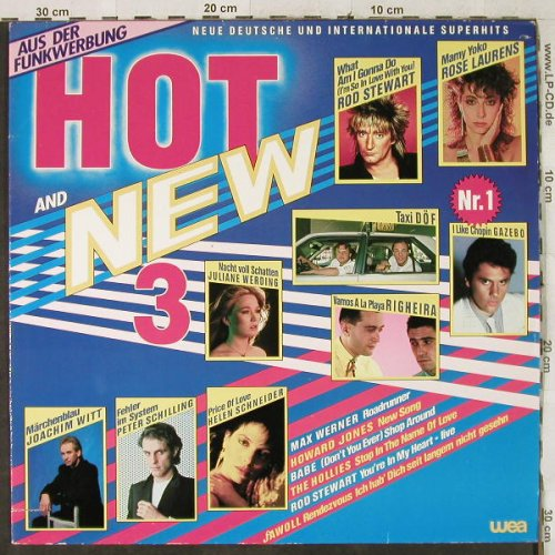 V.A.Hot and New 3: Rod Stewart, Gazebo, Righeira..., WEA(24-0303-1), D, 1983 - LP - H3909 - 4,00 Euro