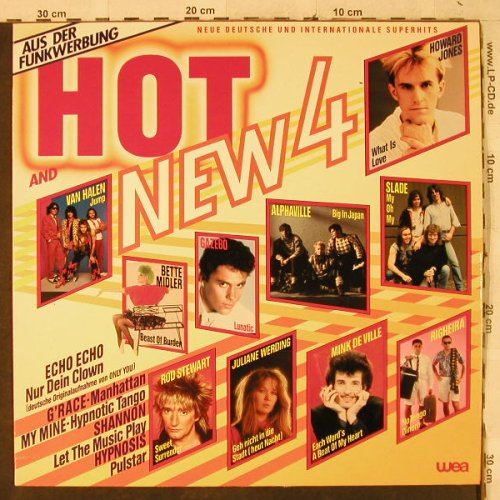 V.A.Hot and New 4: Alphaville...Righeira, WEA(240 374-1), D, co, 1984 - LP - H3926 - 4,00 Euro