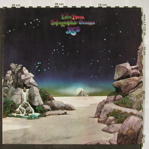 Yes: Tales From Topographic Ocean, Foc, Atlantic(ATL 80 001), D,vg+/vg+, 1973 - 2LP - H4072 - 7,50 Euro