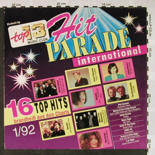 V.A.Hit Parade International: 1/92-Monty Python...L.A.Style, Top 13 Music Club(71 239 8), D, 1992 - LP - H4073 - 4,00 Euro