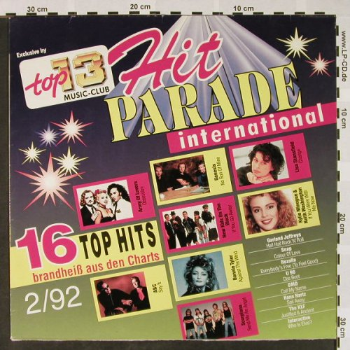 V.A.Hit Parade International: 2/92-Army of Lovers..Interactive, Top 13 Music Club(71 240 6), D, vg+/m-, 1992 - LP - H4074 - 3,00 Euro