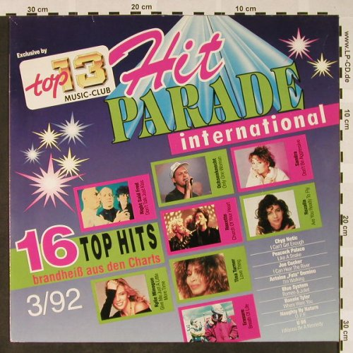 V.A.Hit Parade International: 3/92-Right Said Fred...U96, Top 13 Music Club(71 241 4), D, vg+/m-, 1992 - LP - H4075 - 3,00 Euro