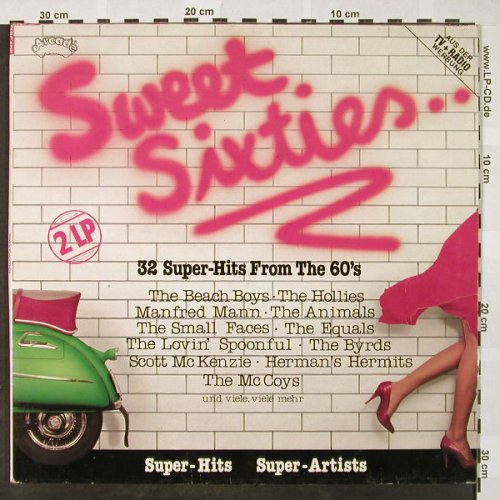 V.A.Sweet Sixties...: 32 Super-Hits from the 60's, Foc, Arcade(ADEG 147), D, 1982 - 2LP - H4219 - 5,50 Euro