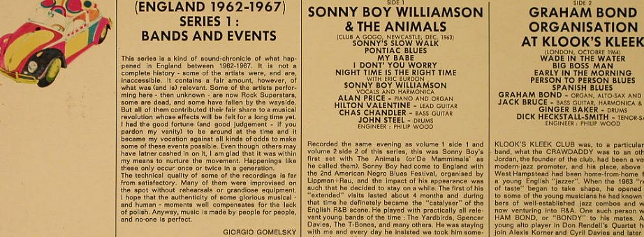 V.A.Rock Generation Vol.3: Sonny Boy Williamsson/Graham Bond.., BYG(529.703), F,rec.live,  - LP - H4531 - 6,50 Euro