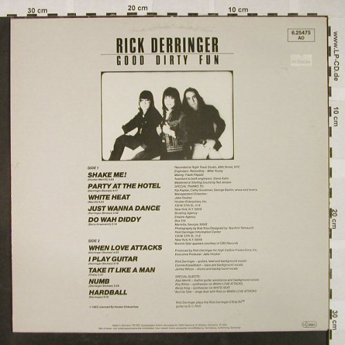 Derringer,Rick: Good Dirty Fun, Ultraphone(6.25475 AO), D, 1983 - LP - H4560 - 6,50 Euro