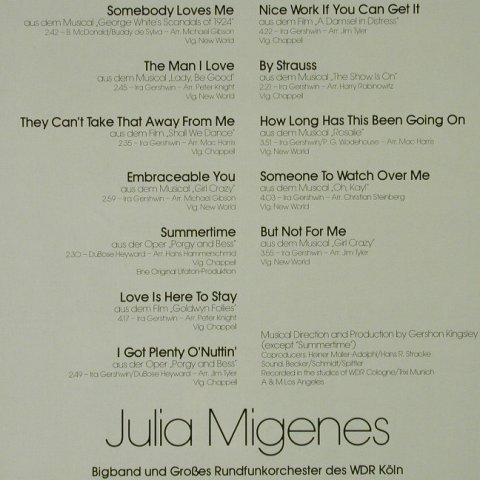 Migenes,Julia: Gershwin Love Songs, Ariola(202 867-366), D, 1981 - LP - H4620 - 5,50 Euro