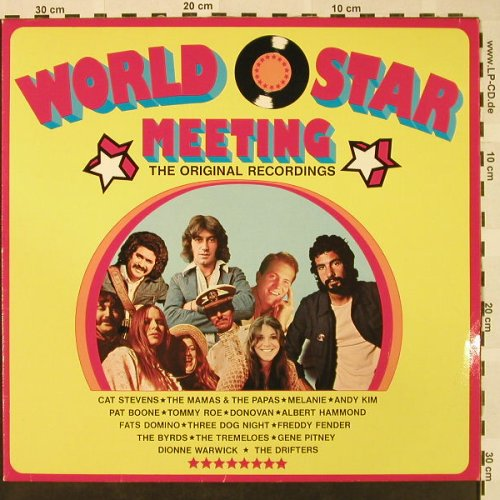 V.A.World Star Meeting: Mamas&t.Papas..Pat Boone, SR(65 8260), D,  - LP - H4639 - 5,00 Euro