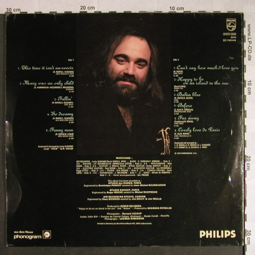 Roussos,Demis: Happy To Be...,Foc, vg+/vg-, Philips(9120 088), D, 1976 - LP - H484 - 3,00 Euro
