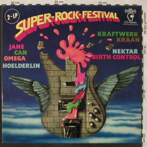 V.A.Super-Rock-Festival: Kraan,Omega,Can,Kraftwerk..., Foc, Intercord(INT 180.028), D, 1977 - 2LP - H4974 - 9,00 Euro