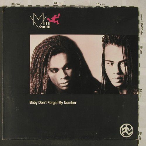 Milli Vanilli: Baby don't forget my Number*2+1, Hansa(611 841), D, m-/vg+, 1988 - 12inch - H5113 - 2,50 Euro