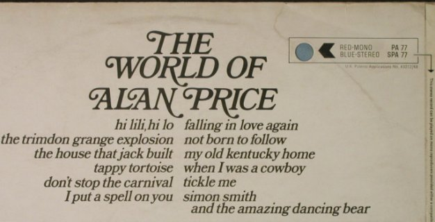Price,Alan: The World Of, m-/vg+, Decca(SPA 77), UK, 1970 - LP - H5149 - 6,00 Euro