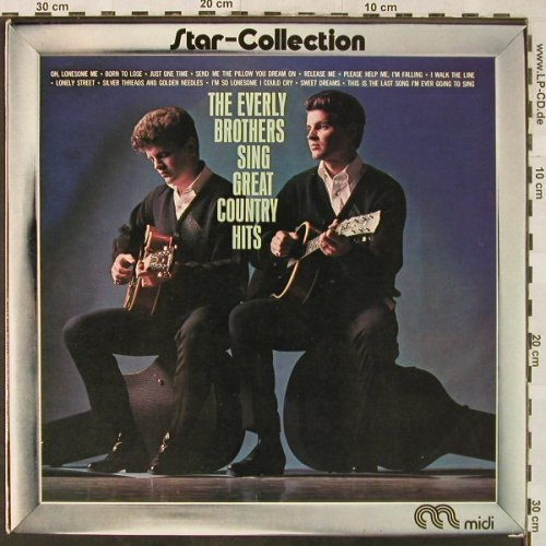 Everly Brothers: Sing Great Country Hits, Ri, Midi(MID 26025), NL, 1963 - LP - H5206 - 5,00 Euro