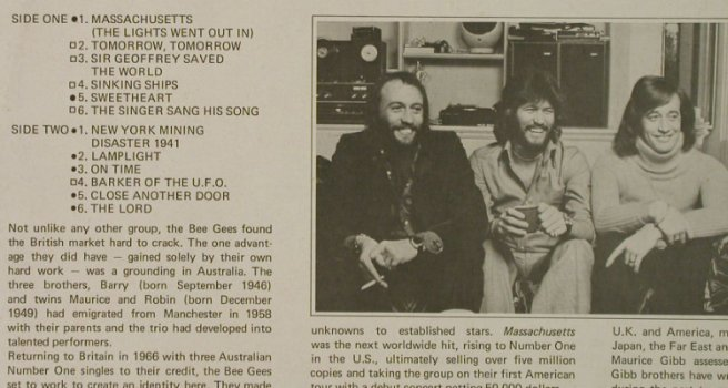 Bee Gees: Massachusetts, Ri, Contour(CN 2002), UK,  - LP - H5244 - 5,50 Euro