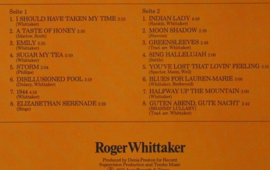 Whittaker,Roger: The Best Of 3, Aves(69.048), D, 1977 - LP - H5246 - 5,50 Euro