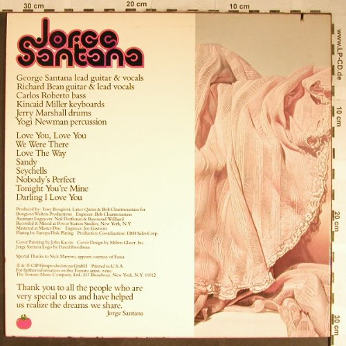 Santana,Jorge: Same, Tomato(TOM-7020), US, Co, 1978 - LP - H5595 - 5,00 Euro