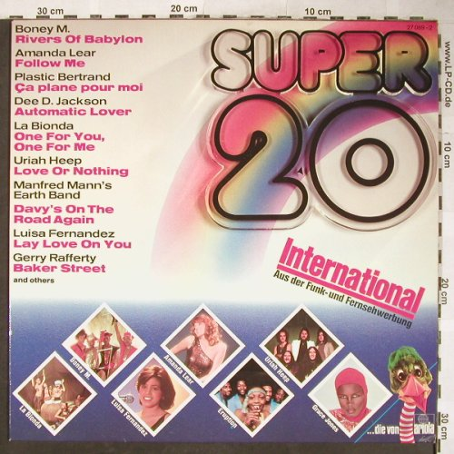 V.A.Super 20 - International: Boney M. ...Luisa Fernandez, Ariola,Club Ed(27 089-2), D, 1978 - LP - H5822 - 4,00 Euro