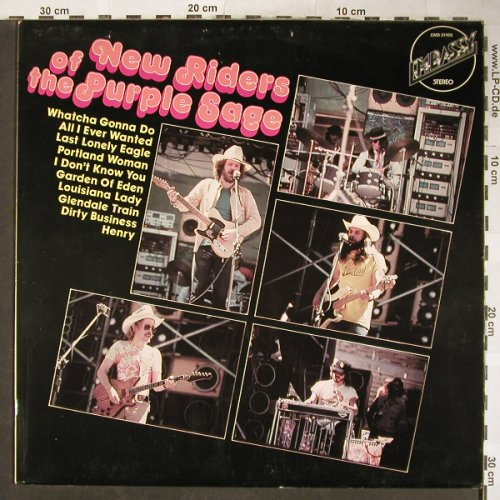 New Riders Of The Purple Sage: Same, vg+/vg+, Stol, Embassy(EMB 31105), NL,Ri,  - LP - H5863 - 5,00 Euro