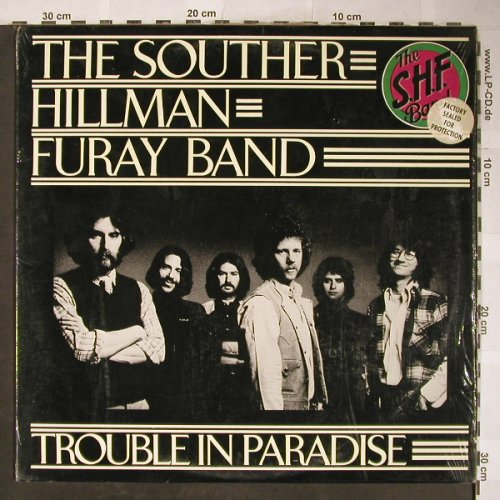 Souther Hillman Furay Band: Trouble In Paradise, vg+/m-, Asylum(7E-1036), US, co, 1975 - LP - H5910 - 5,00 Euro