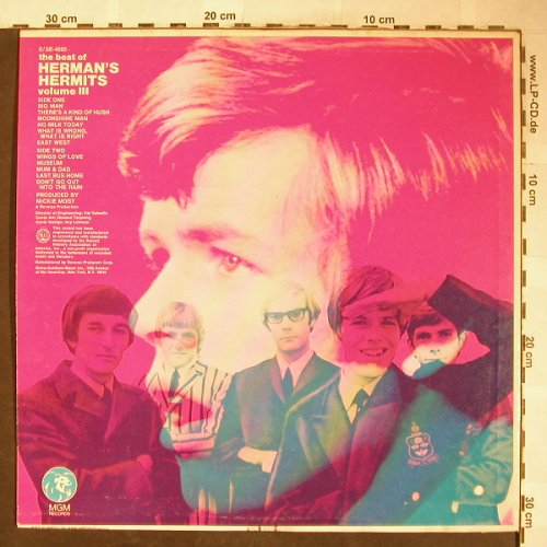 Herman's Hermits: The Best Of - Vol.3, MGM(SE-4505), US, Co,  - LP - H5992 - 9,00 Euro