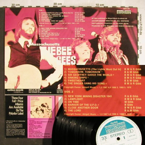 Bee Gees: Massachusetts, Contour(2870 196), UK,  - LP - H6357 - 5,50 Euro