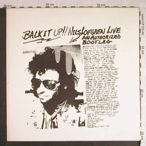 Lofgren,Nils: Back it up!! Live,authorizedBootleg, (A&M)(SP-8362), , 1975 - LP - H708 - 15,00 Euro
