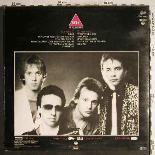 After The Fire: 80-F, Epic(EPC 84545), NL, m-/vg+, 1980 - LP - H7303 - 3,00 Euro