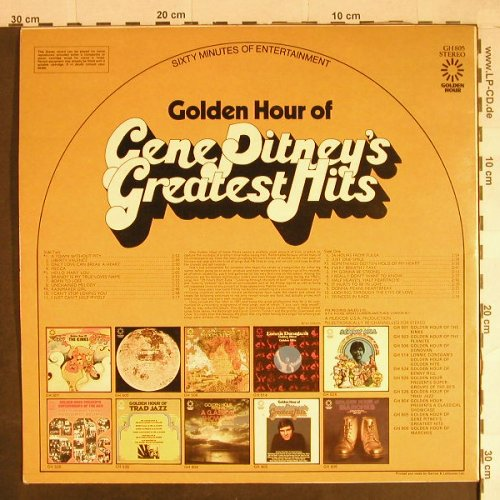 Pitney,Gene: Golden Hour Of, Golden Hour(GH 805), UK, 1972 - LP - H732 - 5,00 Euro