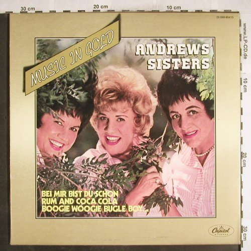 Andrews Sisters: Music On Gold, Foc, Ri, Capitol(2S068-85413), F, 1976 - LP - H7354 - 5,50 Euro