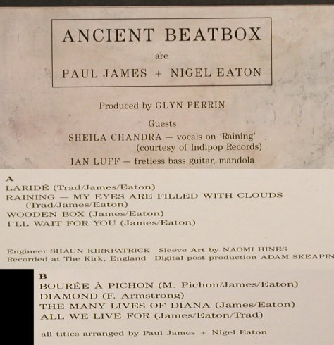 Ancient Beatbox: Same, Cooking Vinyl(021), UK, 1989 - LP - H7358 - 6,50 Euro