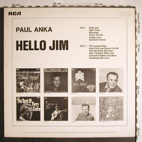 Anka,Paul: Hello Jim, RCA International(CDS 6018), D,  - LP - H7371 - 5,50 Euro